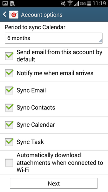 ActiveSync on Android Devices IV