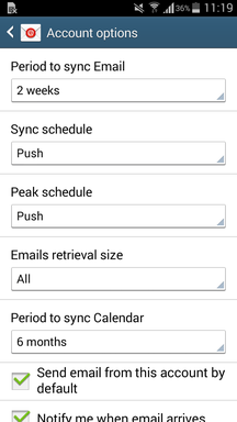 ActiveSync on Android Devices III